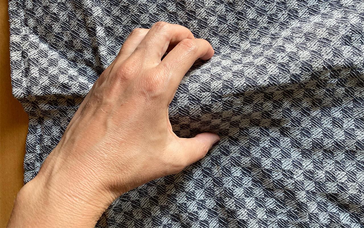 Legen Sie das Trockentuch vorsichtig über die Fledermaus und nehmen sie dann von beiden Seiten das Tier im Zangengriff auf. Foto: Manuela Menn